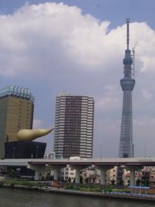 駒形橋 スカイツリー 写真 うんこビル アサヒビール 本社 アサヒビールタワー