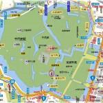 皇居周辺 門と橋の地図