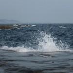 江ノ島 太平洋 波飛沫 写真