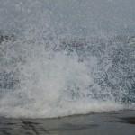 江の島 太平洋 波飛沫 写真