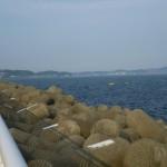 江の島 テトラポット 海 張り紙 灯台 写真3
