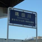蔵前橋 隅田川 看板